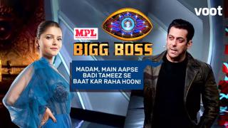 Salman gives Rubina an earful!