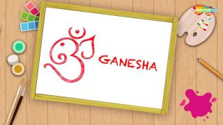 Easy Ganesha Drawing For Kids - Part-1