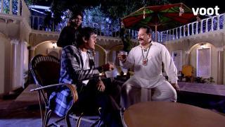 Dhanraj and Baapji celebrate their victory