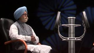 Big B with Manmohan Singh
