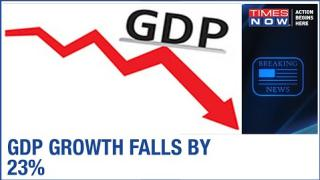 India's GDP growth falls by 23% in Q1 due to the coronavirus pandemic