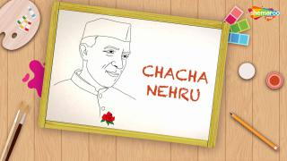Easy Chacha Nehru Drawing For Kids
