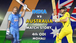 India vs Australia, 4th ODI: Match Story