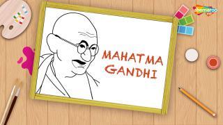 Easy Mahatma Gandhi Drawing For Kids