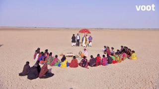 Ladies of Shivim village gather for the ritual