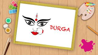 Easy Durga Drawing Navratri Special For Kids