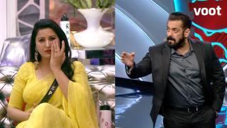 Salman schools Sonali for her behaviour!
