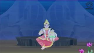 Krishna and Narakasura - Story of Diwali