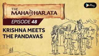 EP 49 - Mahabharata  - Krishna Meets The Pandavas