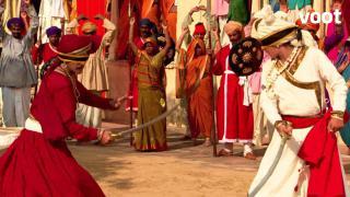 Shivaji's combat with Sambhaji