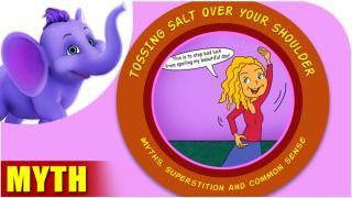 Tossing salt over your shoulder